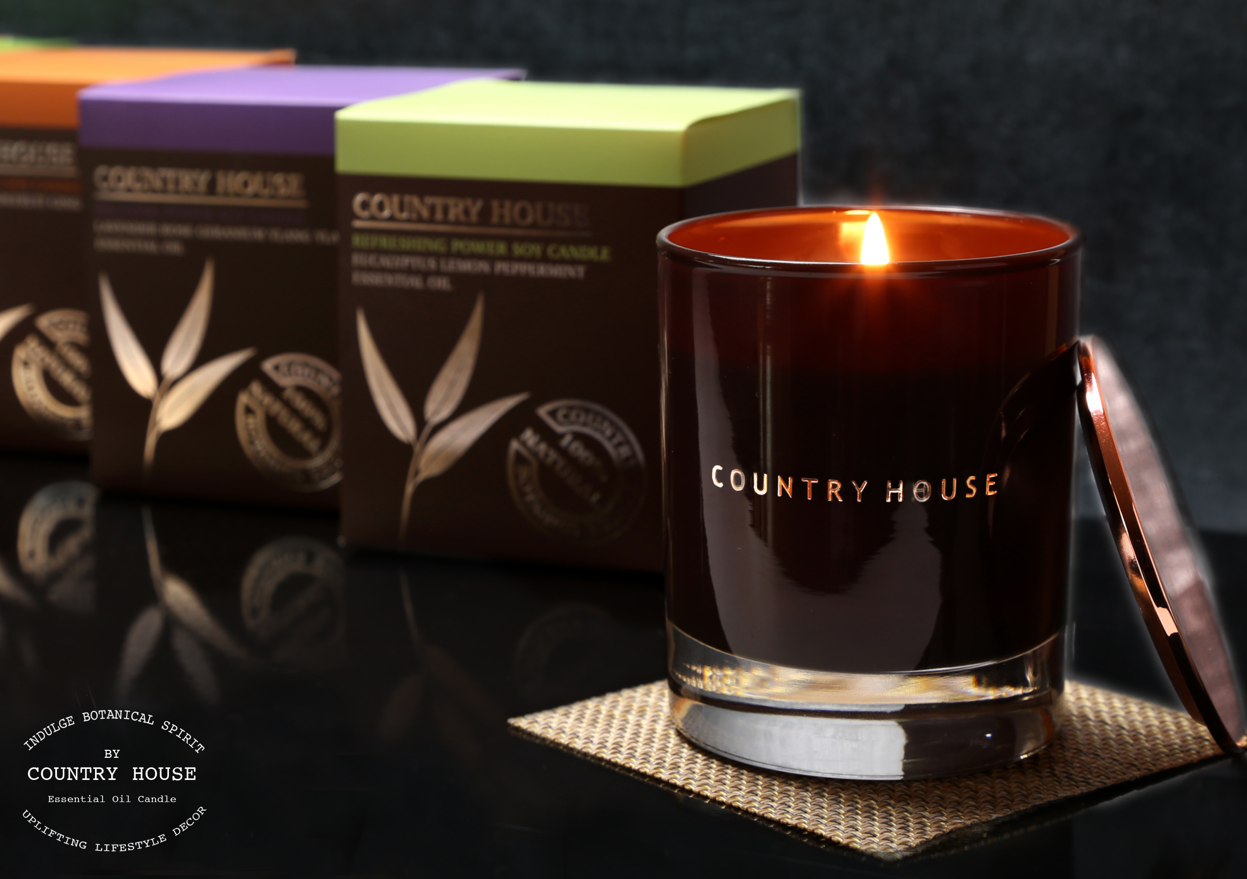 relaxing power soy candle collection